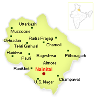 Nainital Travel Map